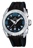 FESTINA F16505/4 Herren Uhr Silikon Schwarz Herrenuhr Black Rubber Men Watch