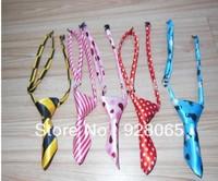 Hot Sales 100pcs/Lot Wholesale Mix 30 Colors Polyester Silk Pet Dog Necktie Adjustable Handsome Bow Tie Pet Collar Cute Gift