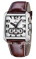 Festina F16294/4 Herrenuhr Retro Chronograph High Quality Quartz Rectangular Leather Men's Watch