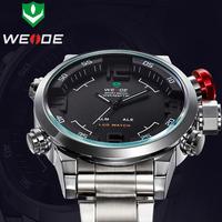 WEIDE Date Day Miyota2035 Movement White Analog Digital Men Quartz Relogio Wrist Men's Sport Watch,Military Watch For Men/WH2309