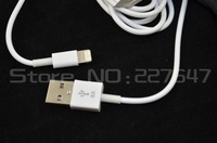 usb 2.0 Cable 8 pin Connector Charger Adapter for iPhone 5 1 m length high quality free shipping