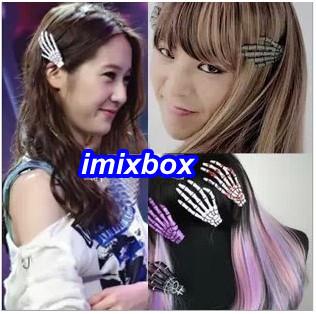 Free Shipping! Hot Sale Newest Korea Lady Girls Fashion Hair Barrette Skeleton Hair Clip 12pcs/Lot JH6038