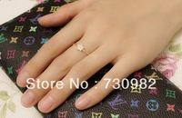 pure 14k yellow gold ring supperchainsmall star  birthday engagement gift free shipping