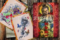 free shipping new desgin tattoo book magzine A4 size 1pc for tattoo supply