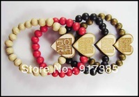 10X Hip Hop Jewelry Goodwood Heart Bracelet Hot Fashion Jewelry black white red brown goodwood NEW Free Shipping