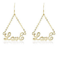 Free shipping rose gold plate name earrings-custom by any name