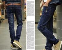 Wholesale! Free Shipping Men's apparel Fashion male trousers Skinny Korea men Jeans pants