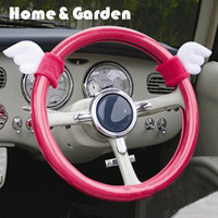Quality fashion pink car steering wheel cover for girls 5G01C086