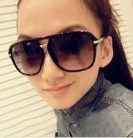 1PC Brand Designer Fashion Women Men Young Girl Boy Lady Big Frame Sunglasses,Europe America Leopard Anti-UV Sun Glasses Free