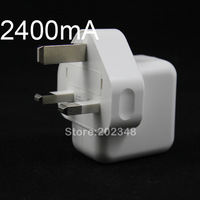 UK PLUG 12W 2400MA USB Power Charger For iPhone 3GS 4G 4S iPhone 5 iPod iPad 1 2 3 4