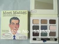 Free Shipping New The Balm Meet Matt 9 Colors Matte Eye Shadow Palette 9.5g (3Pieces/Lot)