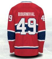 free shipping  hockey jerseys cheap CANADIENS  #49 bournival  NEW ICE HOCKEYL JERSEYSSIZES 48 50 52 54 M L XL XXL