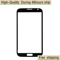 Black White Replacement LCD Front Screen Glass Lens For Samsung Galaxy Note 2 II N7100 Free Shipping UPS DHL HKPAM CPAM VW-1