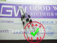 Free shipping new & original Rectifier tube diode 1N5818,1.0A SCHOTTKY BARRIER RECTIFIER