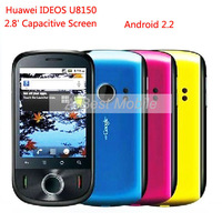 Original Huawei IDEOS U8150 Android 2.2 Cell Phone 3G HSDPA Hotspot GPS With 2.8' Capacitive Screen Unlocked Phones