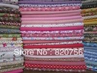 Free Shipping! 50pieces 20cm*25cm beautiful fabric stash,cotton fabric square,patchwork fabric,no repeat design DIY handmade