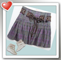 Purple plaid purple fashion 100% cotton short skirt half-skirt medium skirt
