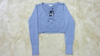 Yarn small velvet top Size fits all grey fashion 04 sweater vageer loose outerwear women's