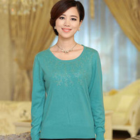 2013 autumn and winter basic knitted sweater shirt