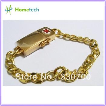 wholesale GOLD wrist band usb flash drive memory disk  4GB 8GB 16GB 32GB usb flash drives high speed usb pen drive 2.0 usb disk