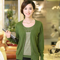 2013 autumn women's solid color cardigan all-match knitted sweater