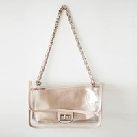 Women's handbag chains transparent women's one shoulder handbag transparent women's handbag chains women's handbag