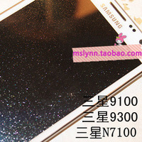 For samsung   n7100 9300 9100 sparkling diamond screen film note2 hd diamond film protective film