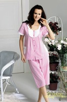 Lounge 2010 summer cotton female sleep set