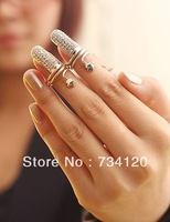 R009 Min.order is $10 (mix order) Punk Cool charms Nail Sets Jewellery Finger Rings / Fake Nail Art Rings Women !Free shipping