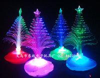 Flash christmas tree light emitting Christmas decoration gift christmas gift fiber optic christmas tree