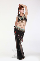 Tribal belly dance set belly dance clothes set bra qc0512