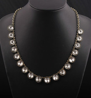 2013 New fashion luxurious rhinestone statement necklace for women vintage costume jewelry, free shipping
