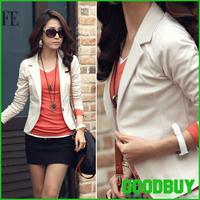 2013 New autumn -summer Womens casual one button Blazer Jacket women cardigan Coat Free shipping