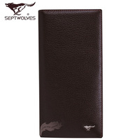 Septwolves wallet 2013 male cowhide long wallet design 3a0831045-28