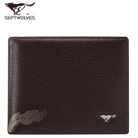 Septwolves wallet 2013 male cowhide short wallet design 3a0831041-28