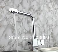 Wholesale Double Handle Concision Kitchen Swivel Basin Sink Faucet Vanity Faucet Brass Mixer Tap Chrome Crane YS-800