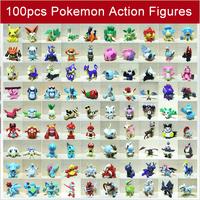 Mini Pokemon Figure Random Pearl Figures 100pcs 2-3cm Wholesale Free Shipping S-0566