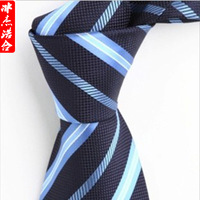 Male tie formal commercial male blue plaid stripe tie 2013
