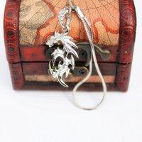 Newest Fairy Tail Cosplay Natsu Dragneel Logo Metal Pendant   Key Chain Free Shipping