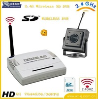 2.4GHZ Wireless Motion Detect Video Recorder System (WVR6200) + MINI wireless pinhole video recorder