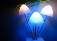 Led mushroom night ligh0 with light sensort Colorful gradient led night lights Christmas gift Free shipping