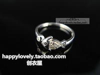 925 pure silver jewelry women's cubic zircon small fish open ring pinky ring finger ring