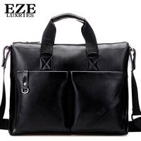 Eze man bag male shoulder bag vintage fashion business casual handbag messenger bag