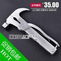 Car multifunctional hammer plier life-saving hammer safety hammer camping tools knife bamboo