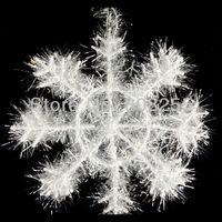 Christmas Gift  3D thin tinsel snowflake White Snowflake Christmas Ornament Decoration free shipping H005