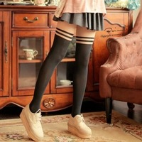 Free Delivery Free Delivery New arrival silk gaotong pantyhose black stockings patchwork thread stovepipe socks female