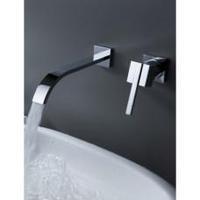 Split wall basin faucet concealed basin