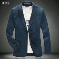 3 Colors ! 5XL Full Sizes Fashion Blazers Men 2014 Quality Plus Size Coats for Men