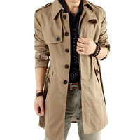 4 Colors ! M-6XL Retail Wholesale Quality Winter Warm Fashion Plus Size Trench for Men Khaki Black