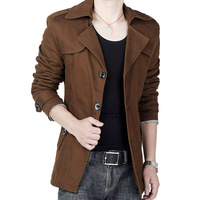 2 Colors ! 2014 Newest Quality Plus Size Winter Coats Chocolate Men Fashion Trench 6xl 7xl 8xl